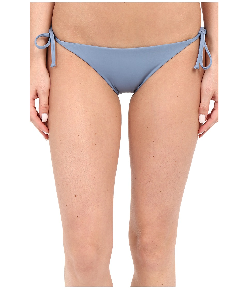 BECCA by Rebecca Virtue Color Code Tie Side Bottom Steel Womens Swimwear