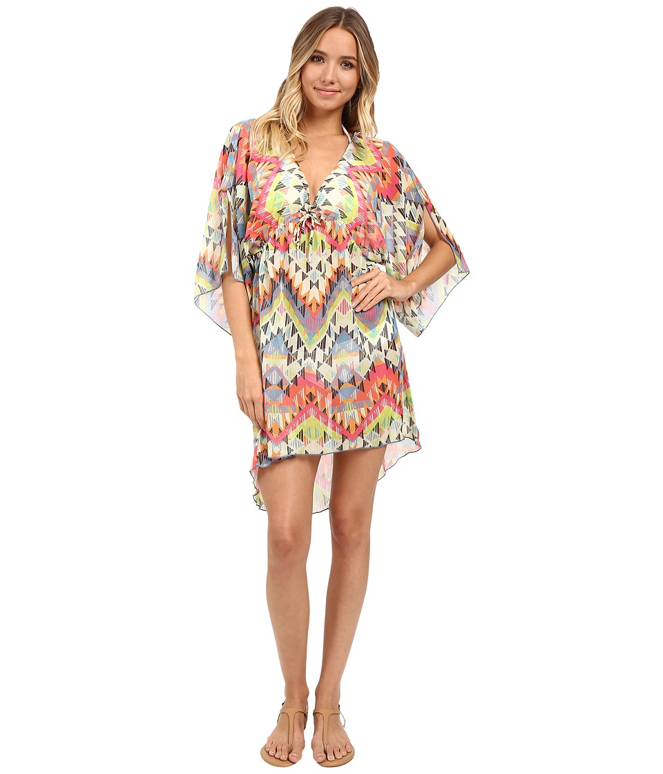 BECCA by Rebecca Virtue Cayenne Tunic Cover Up Multi Womens Swimwear