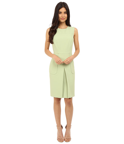Donna Morgan Sleeveless Crepe Pleat Front Fit and Flare