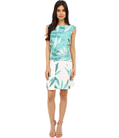 Donna Morgan - Sleeveless Printed Drop Waist Dress with Pocket Front