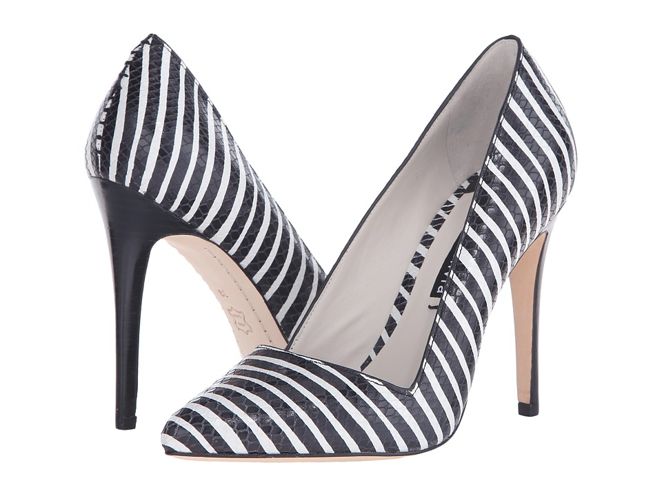 Alice Olivia Dina Too Black/White Streak Snake Emboss Womens Shoes