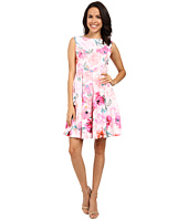 Donna Morgan - Sleeveless Twill Printed Fit and Flare Dress