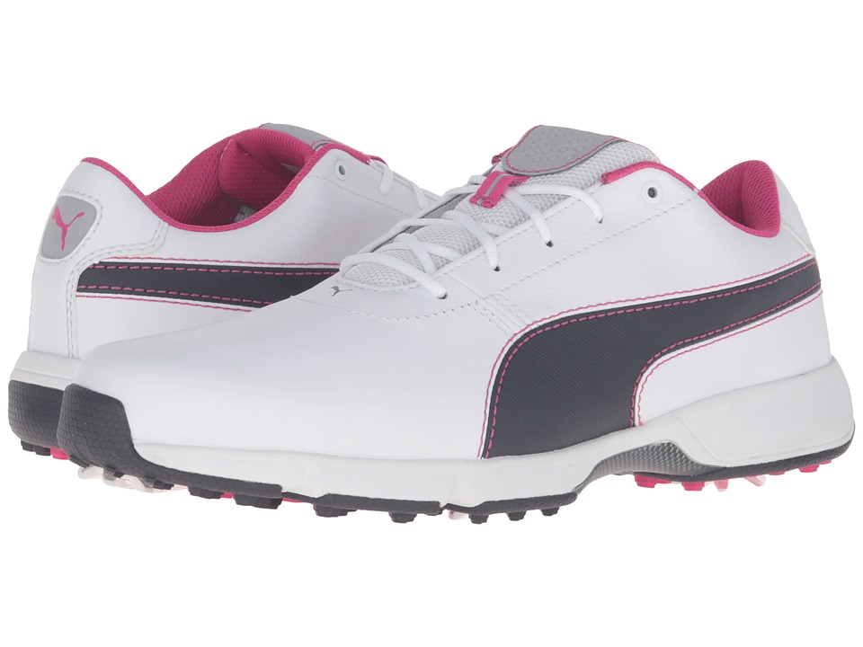 PUMA Golf Ignite Drive (White/Periscope/Beetroot Purple) Men