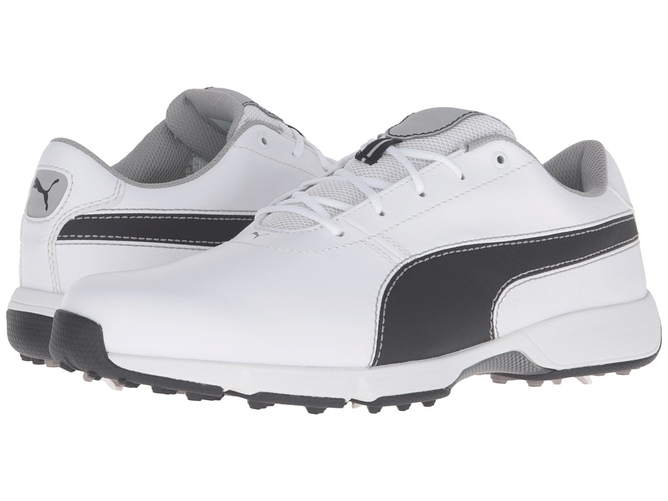 PUMA Golf Ignite Drive (White/Black/Drizzle) Men