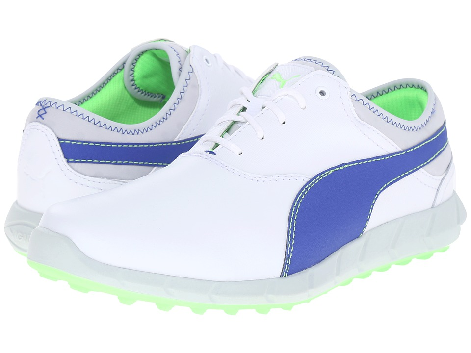 PUMA Golf - Ignite Golf (White/Surf the Web/Green Gecko) Men