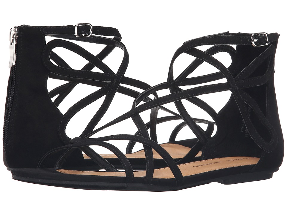 Chinese Laundry - Penny Sandal (Black Micro Suede) Womens Sandals