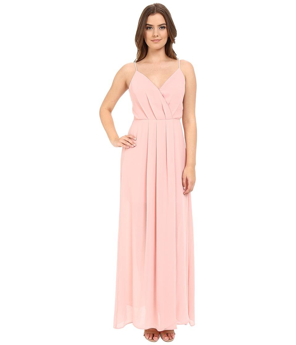 Adelyn Rae Spaghetti Strap V Front Maxi Dress Light Pink Womens Dress