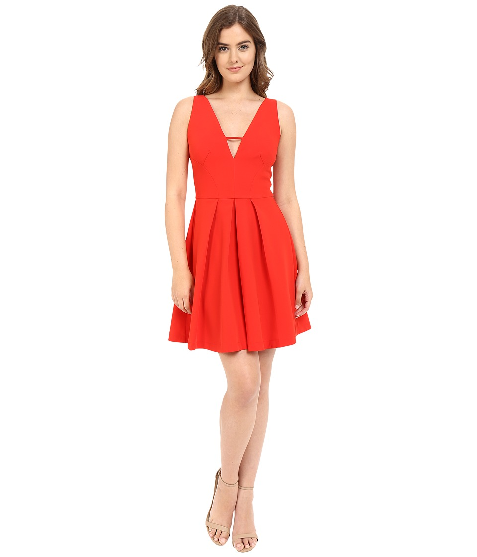 Adelyn Rae V Front Fit Flare Dress Red Womens Dress