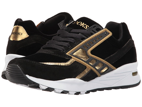 Brooks Heritage Regent - Black/Gold Chrome