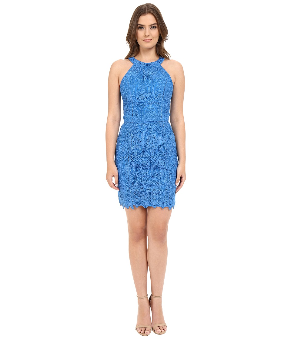 Adelyn Rae Lace Sheath Sleeveless Dress Cyan Womens Dress