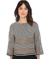 Nicole Miller - Open Stripe Delphine 3/4 Knit