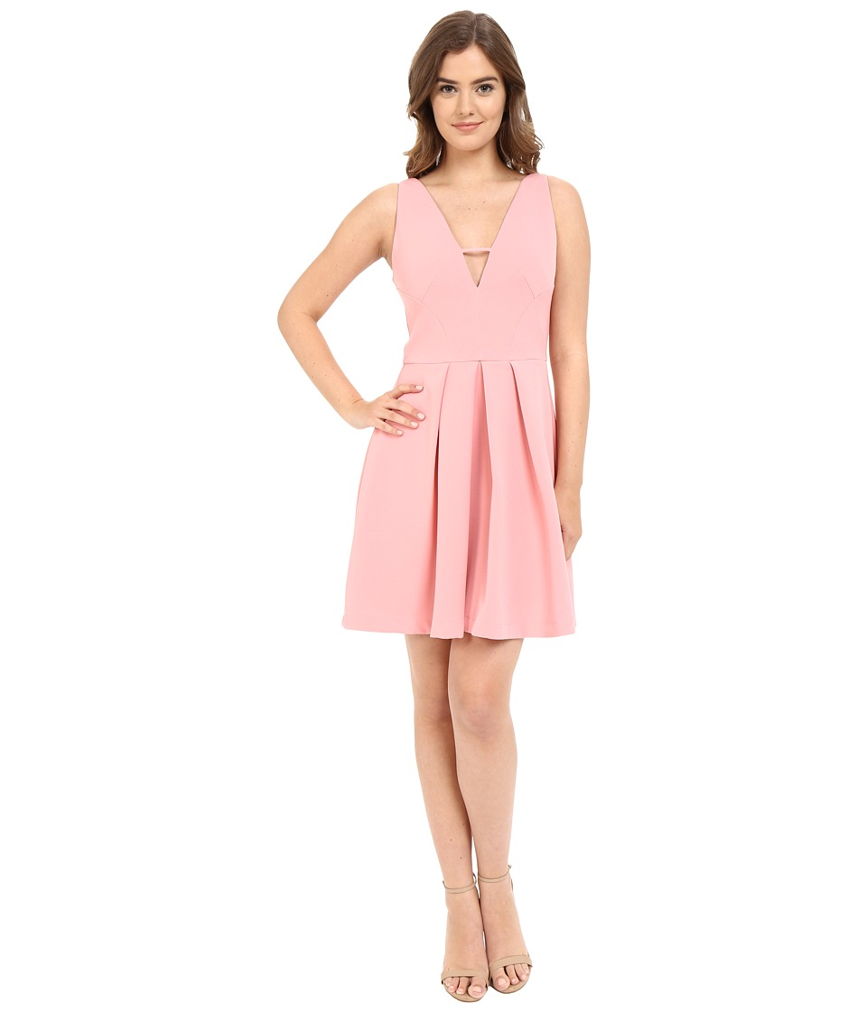 Adelyn Rae V Front Fit Flare Dress Light Pink Womens Dress