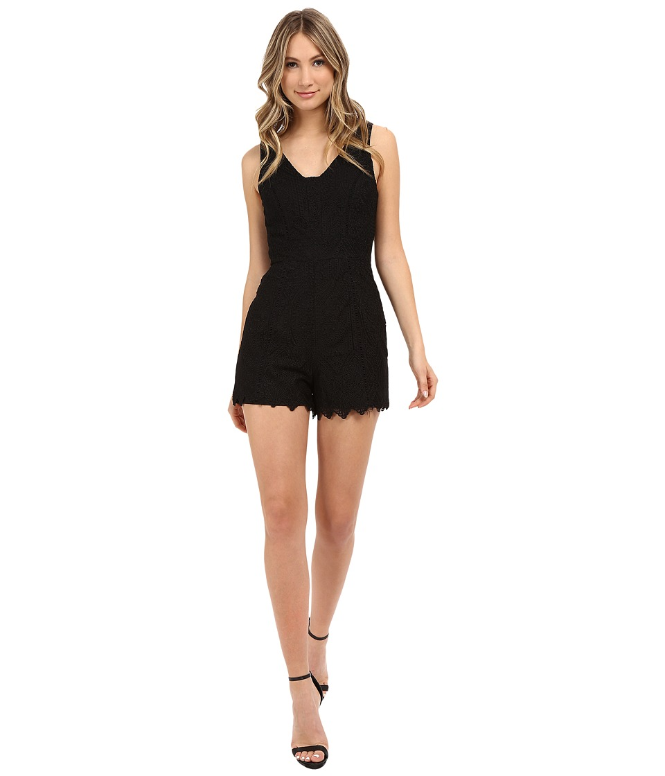 Adelyn Rae Lace Romper Black Womens Jumpsuit Rompers One Piece