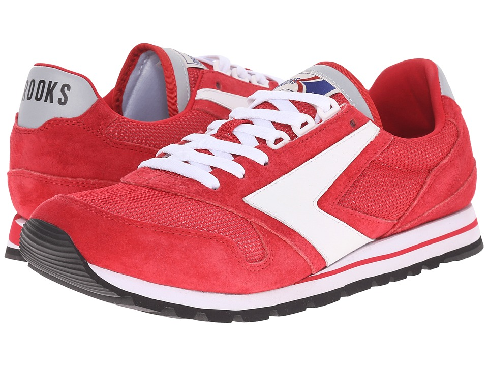 Brooks Heritage Chariot True Red/White Mens Running Shoes