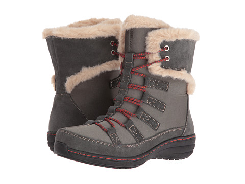 Aetrex Berries Short Lace-Up Boot - Greyberry