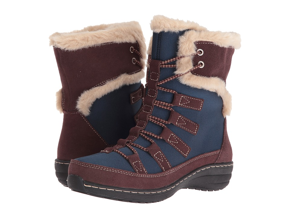 Image of Aetrex - Berries Short Lace-Up Boot (Blueberry) Women's Cold Weather Boots