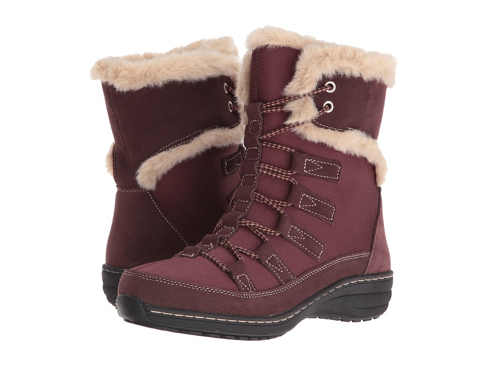 Aetrex Berries Short Lace-Up Boot (Cranberry) Women
