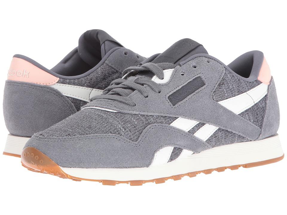 Reebok Lifestyle - Classic Nylon WR (Alloy/Flat Grey/Chalk/Coral Glow) Womens Shoes