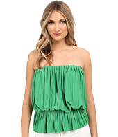 Nicole Miller - Pleated Peplum Tube Top