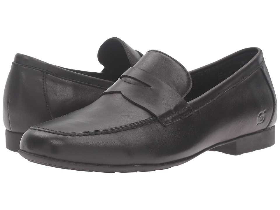 Born Dave (Black) Men's Slip on  Shoes