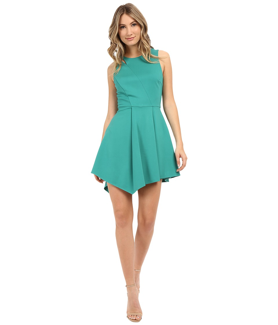 Adelyn Rae Assymetrical Hem Sleeveless Dress Seafoam Womens Dress