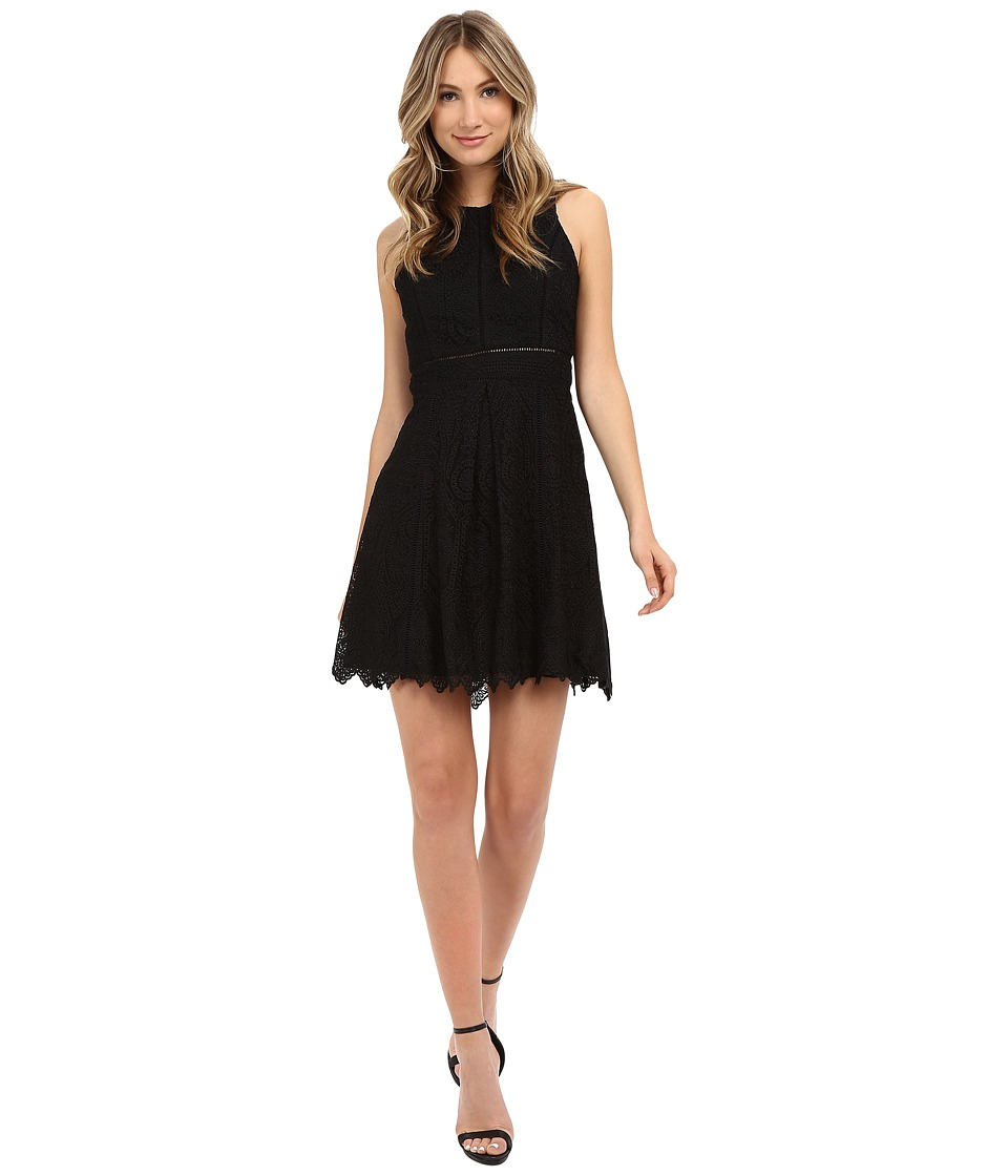 Adelyn Rae Lace Sleeveless Fit Flare Dress Black Womens Dress