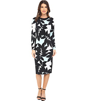 Maggy London - Brach Leaf Printed Jersey Sheath Dress
