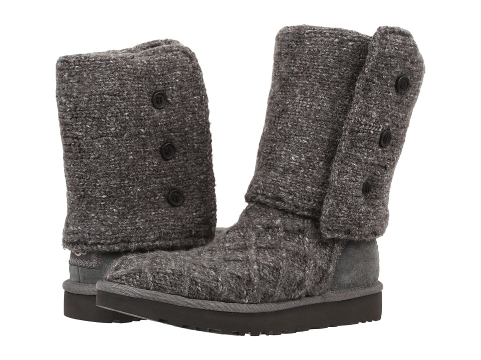 UGG - Lattice Cardy (Charcoal) Women's Pull-on Boots