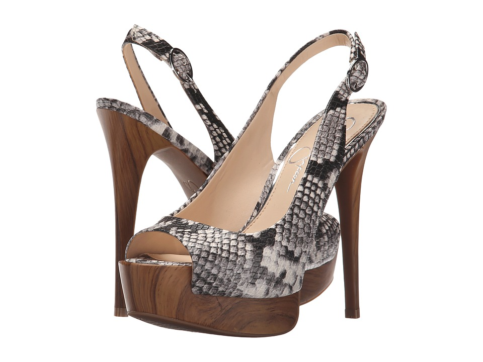Jessica Simpson Kane Natural Combo/Natural Snake Print Womens Shoes