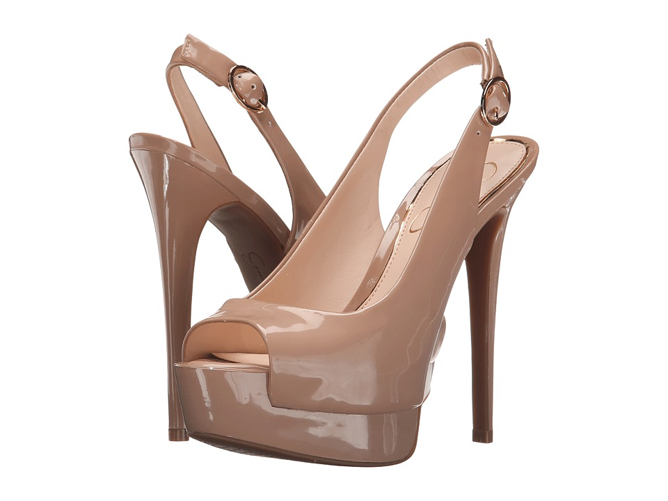 Jessica Simpson Kane Nude Patent Womens Shoes