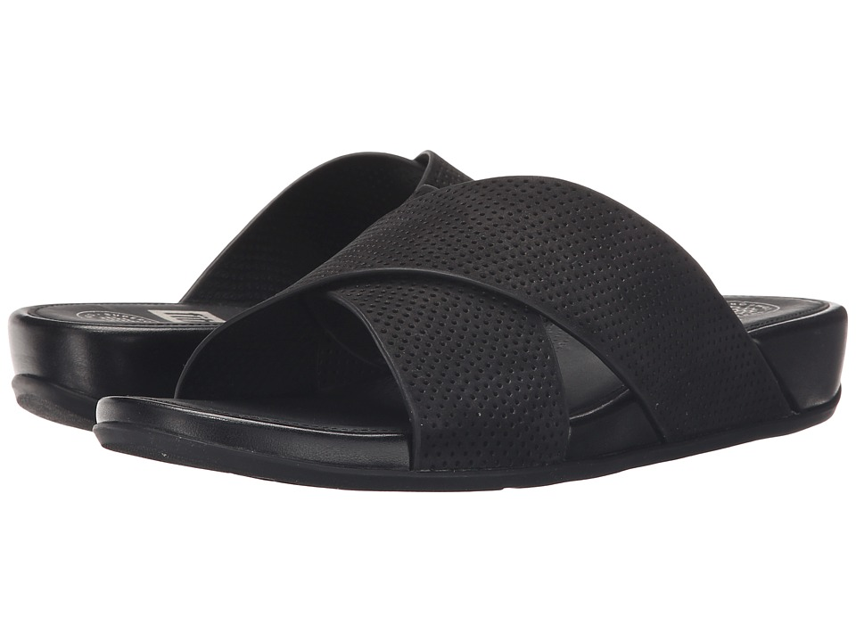 FitFlop Aix Slide Perf Black Womens Sandals
