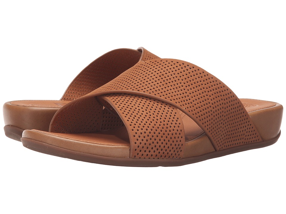FitFlop Aix Slide Perf Tan Womens Sandals