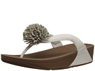 FitFlop - Flowerball Leather Toe Post (Urban White)