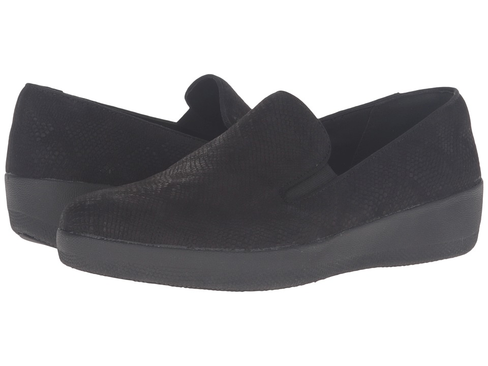 FitFlop Superskate (Black Snake Embossed) Women