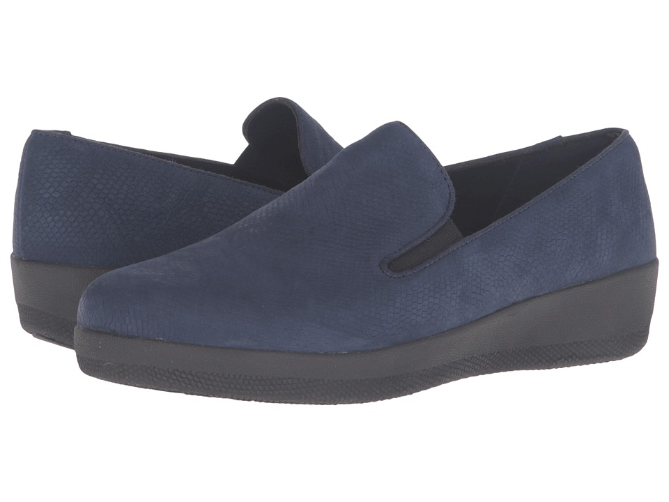 FitFlop Superskate (Midnight Navy Snake Embossed) Women