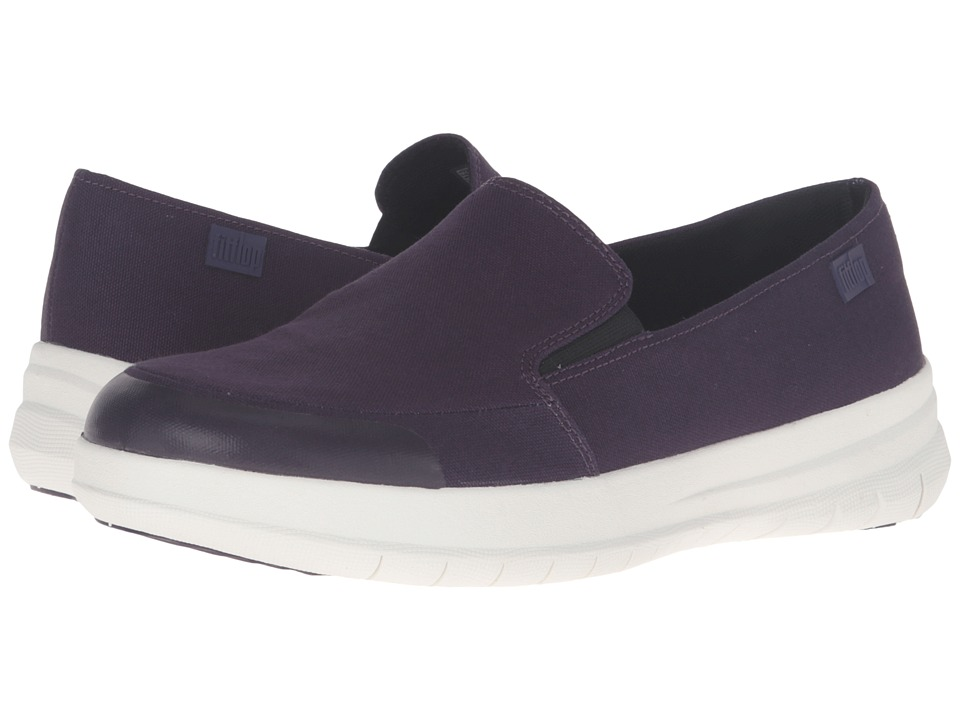 FitFlop Sporty Pop Skate Canvas (Deep Plum) Women
