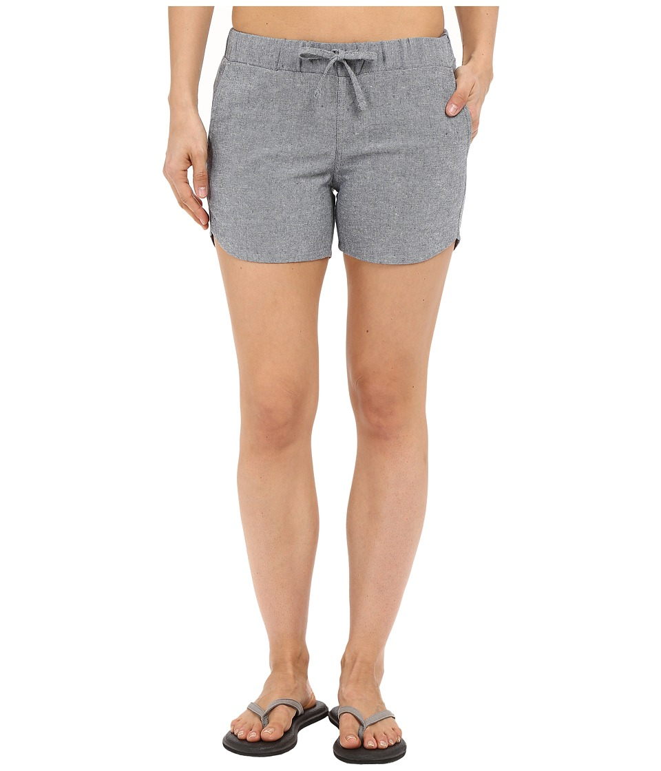 United By Blue Zion Chambray Shorts Blue Womens Shorts