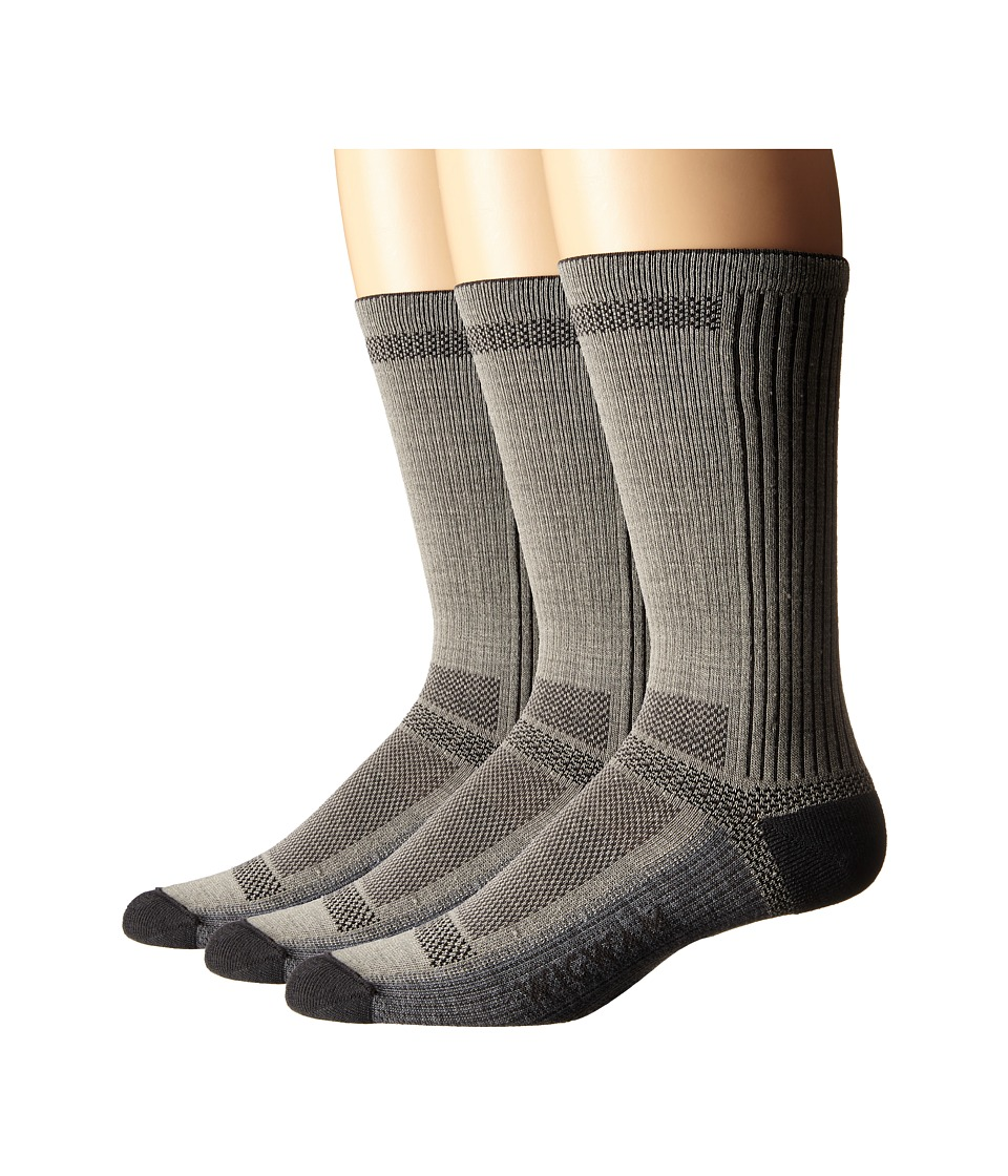 Wigwam Ultra Cool Lite Crew 3 Pack Grey Crew Cut Socks Shoes