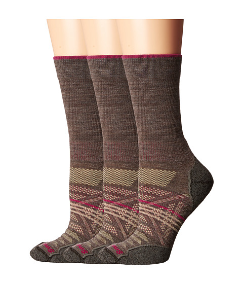 Smartwool PhD Outdoor Light Crew 3-Pack - Taupe 1