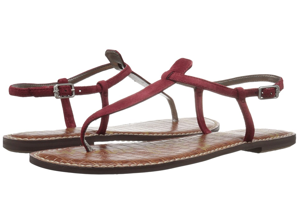 Sam Edelman Gigi (Tango Red Kid Suede Leather) Sandals