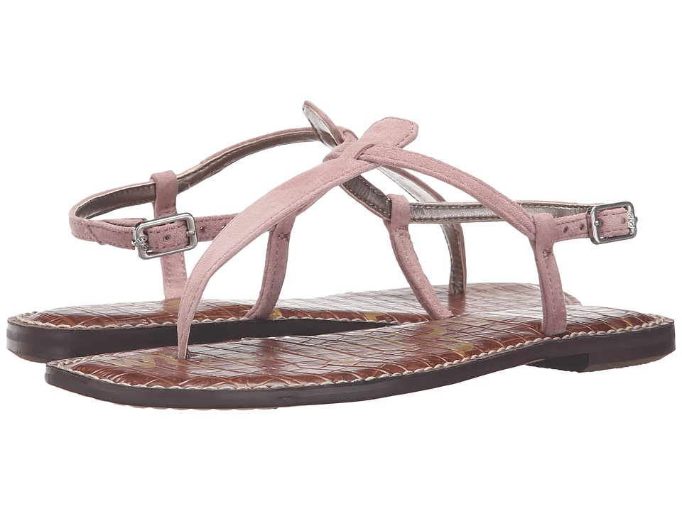 Sam Edelman Gigi (Pink Mauve Kid Suede Leather) Sandals