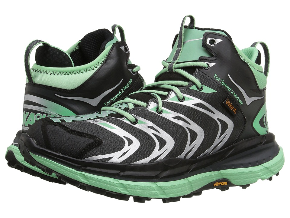 Hoka One One Tor Speed 2 Mid (Dark Shadow/Mint Green) Women