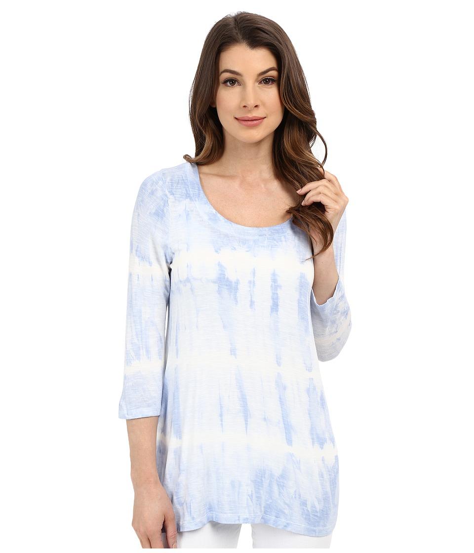 Miraclebody Jeans BFF Sharkbite Top w/ Body Shaping Inner Shell Powder Blue Womens T Shirt