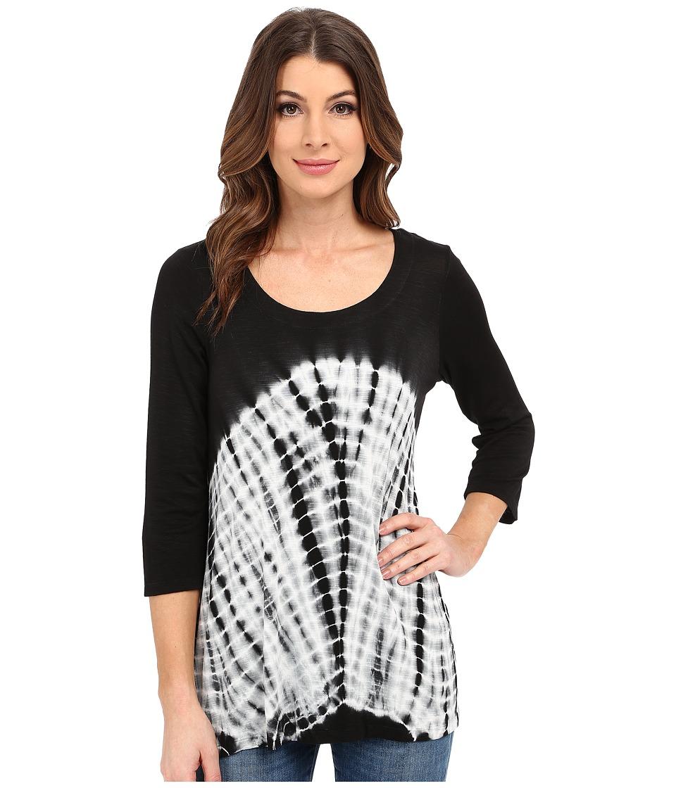 Miraclebody Jeans BFF Sharkbite Top w/ Body Shaping Inner Shell Black Womens T Shirt