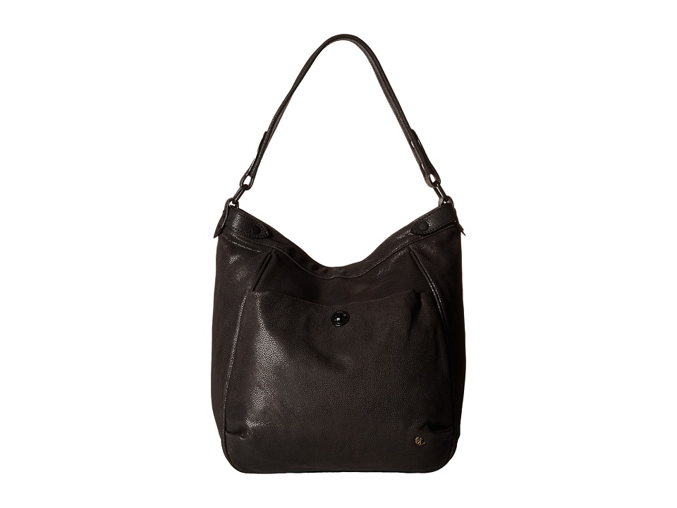 Elliott Lucca - Cerise Bucket Hobo (Black) Hobo Handbags