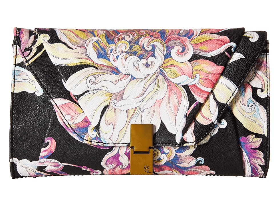 Elliott Lucca - Cordoba Clutch (Black Wildflower) Clutch Handbags