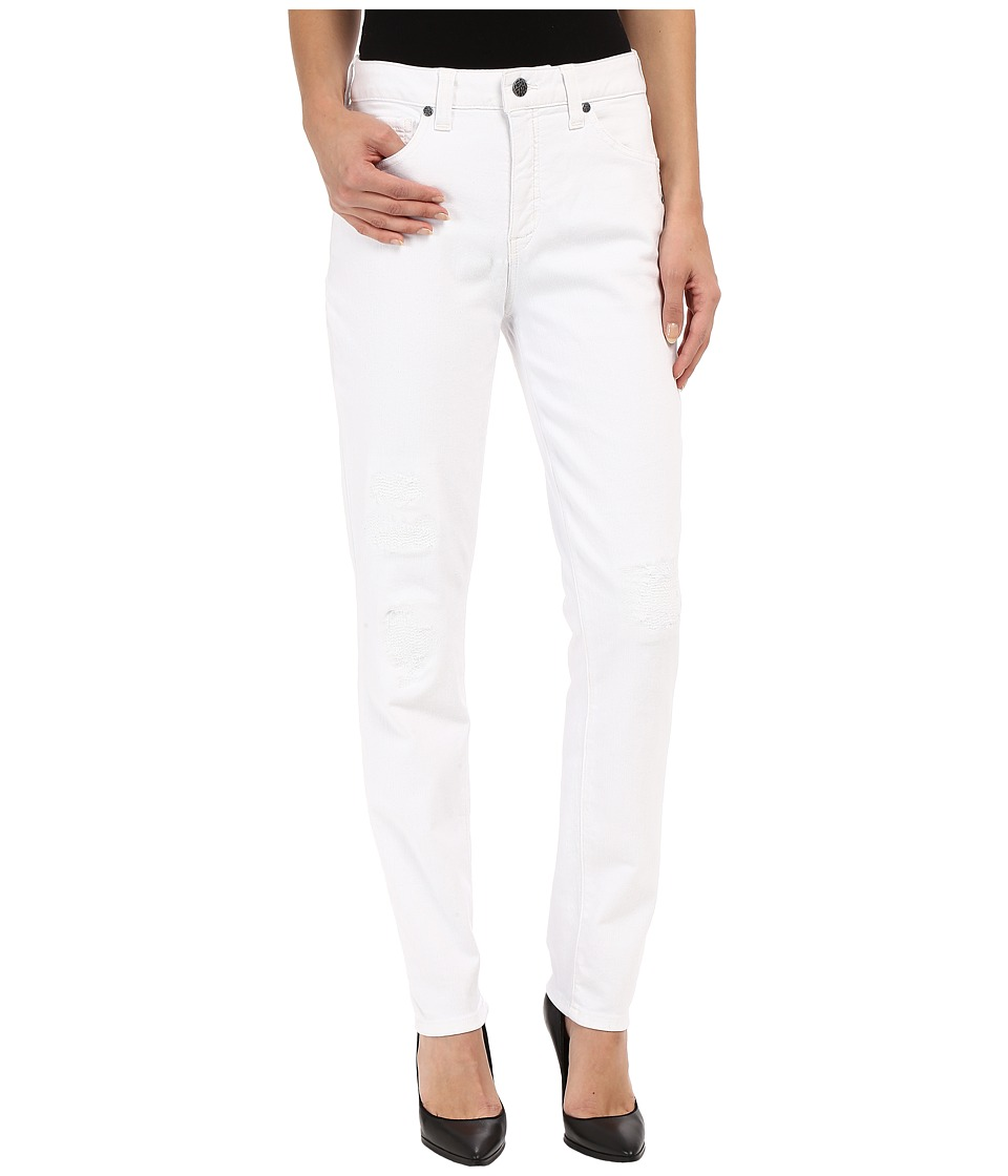 Miraclebody Jeans Ricky Rip and Repair Skinny Jeans in Blanco White Blanco White Womens Jeans