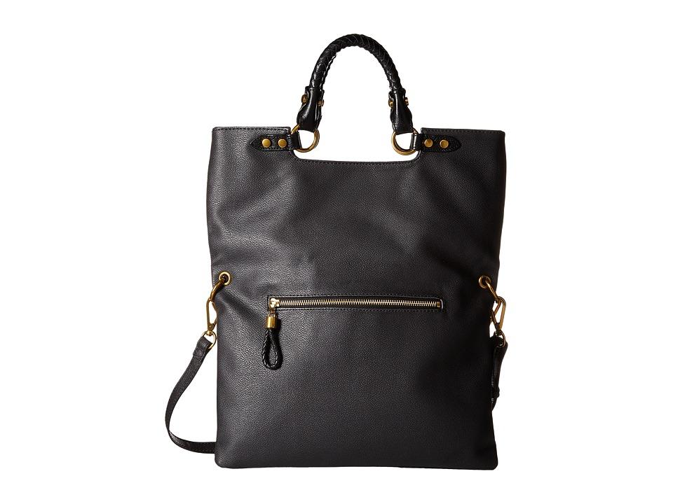 Elliott Lucca Iara Crossbody Foldover Tote Black Spring Botanica Tote Handbags