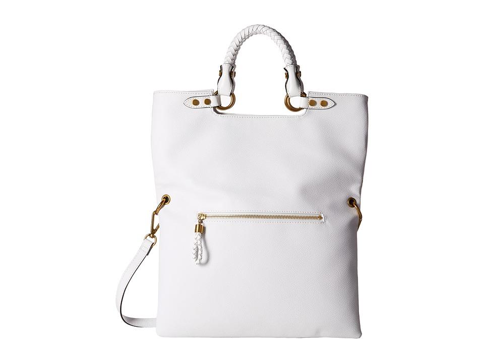 Elliott Lucca Iara Crossbody Foldover Tote White Spring Botanica Tote Handbags