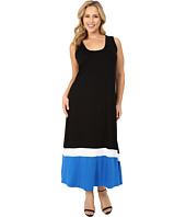 Karen Kane Plus - Plus Size Contrast Maxi Tank Dress